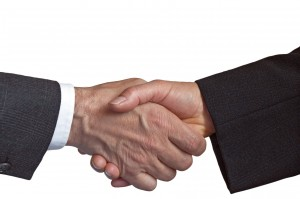 Handshake. Trusted partnership